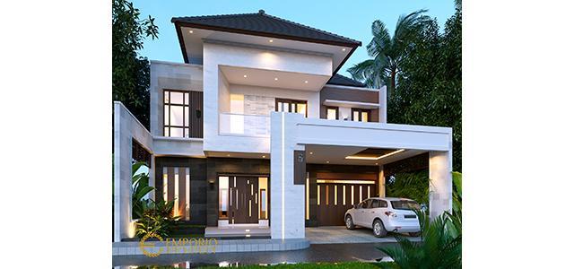 Desain Rumah Modern 2 Lantai Bapak Deni di  Karawang, Jawa Barat