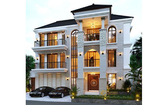 Desain Rumah Villa Bali 3 Lantai Mr. Neeraj di  Kathmandu, Nepal