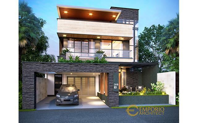 Desain Rumah Modern 2 Lantai Bapak Hendra di  Kediri, Jawa Timur