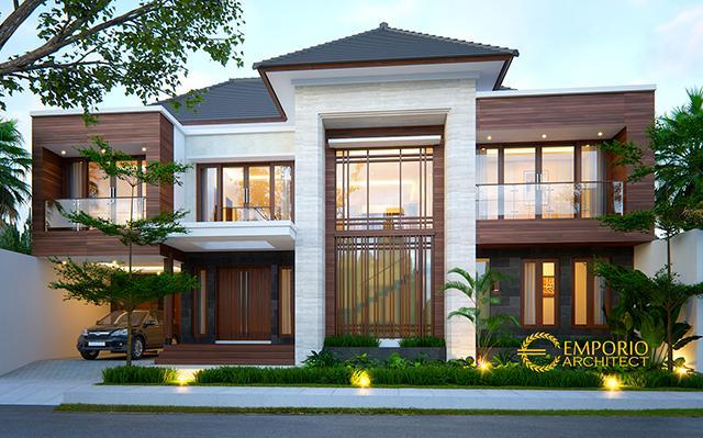 Desain Rumah Modern 2 Lantai Ibu Lisa di  Kediri, Jawa Timur