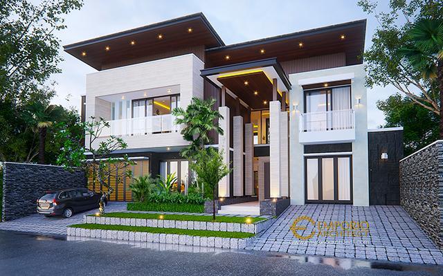 Desain Rumah Modern 2 Lantai Bapak Aheng di  Kelapa Gading, Jakarta Utara
