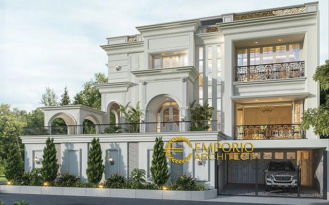 Mr.  Michael Dotulong Mediteran House 3 Floors Design - Kelapa Gading, Jakarta Utara