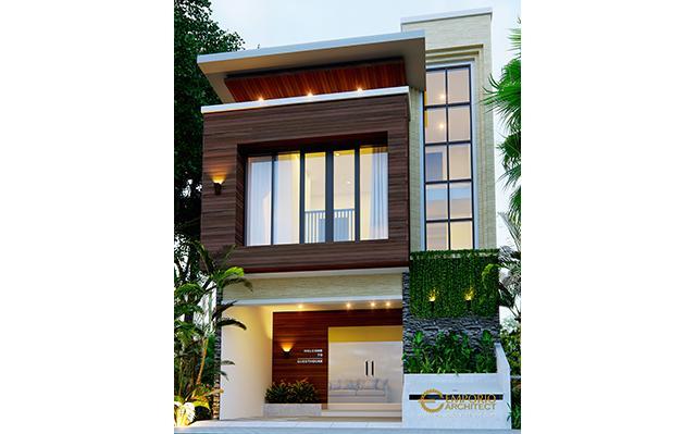 Desain Guest House Modern 2 Lantai Ibu Bayu di  Kerobokan, Badung, Bali