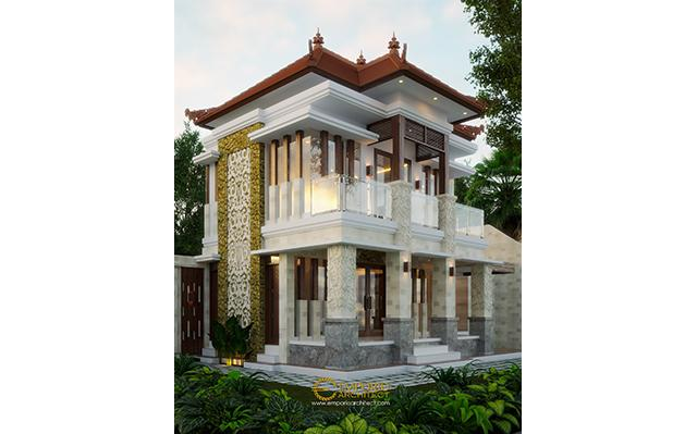 Desain Rumah Villa Bali 2 Lantai Bapak Komang Adi II di  Kerobokan, Bali