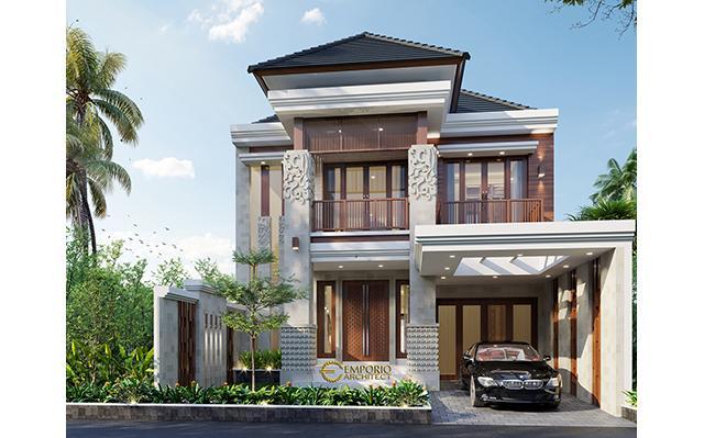 Desain Rumah Villa Bali 2 Lantai Bapak Haeran di  Kota Baru, Kalimantan Selatan