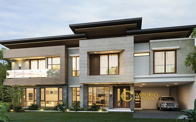 Desain Rumah Modern 2 Lantai Bapak Charly di  Kupang