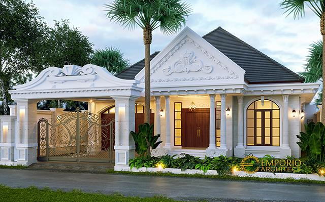 Mr. Reza Classic House 1 Floor Design - Lampung