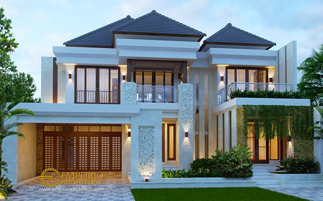 Desain Rumah Villa Bali 2 Lantai Bapak Sigit di  Madiun, Jawa Timur