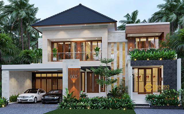 Desain Rumah Modern 2 Lantai Bapak Sigit II di  Madiun, Jawa Timur