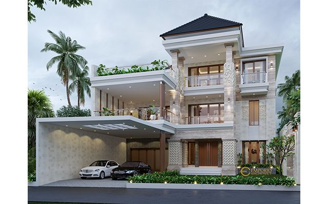 Mr. Alfred Villa Bali House 3 Floors Design - Makassar