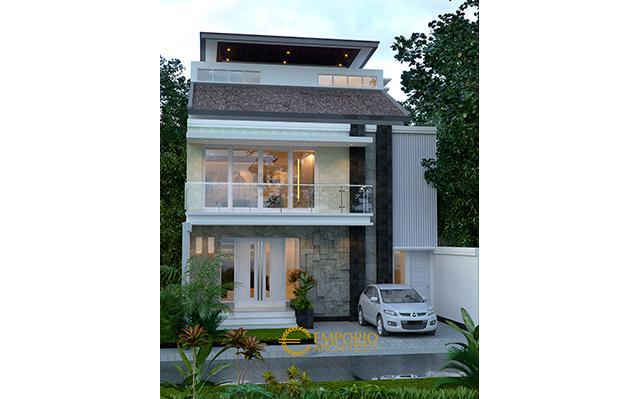 Desain Rumah Modern 2 Lantai Bapak Rendy di  Makassar