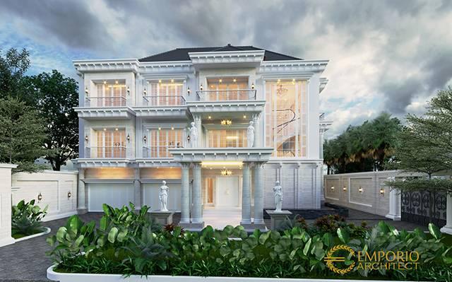 Mr. Yasir Classic House 3 Floors Design - Makassar, Sulawesi Selatan