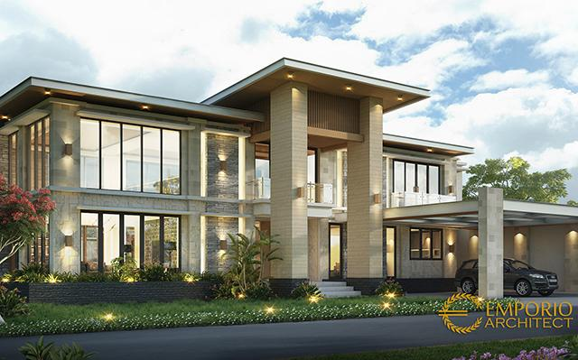 Mr. Alwi Modern House 2 Floors Design - Malang