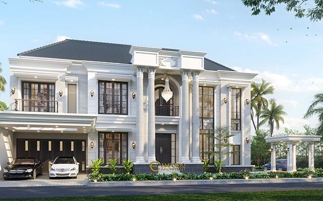 Desain Rumah Classic 2 Lantai Bapak Tony di  Malang, Jawa Timur
