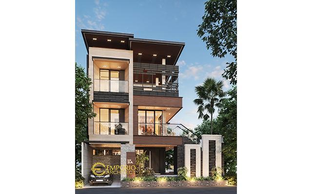 Desain Rumah Modern 3 Lantai Ibu Wijaya di  Malang, Jawa Timur
