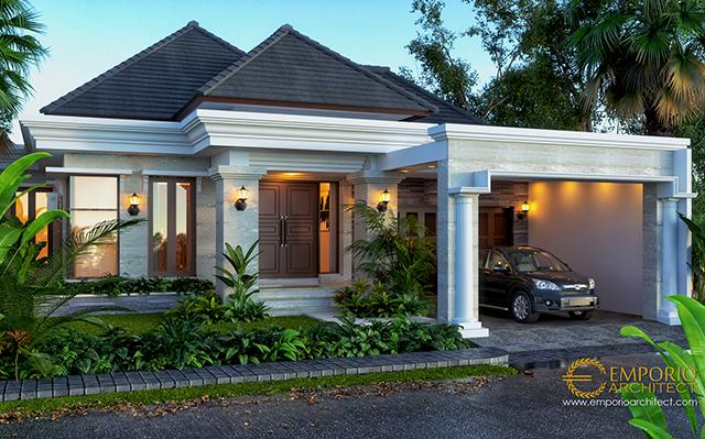 Mrs. Dhini Villa Bali House 1 Floor Design - Medan