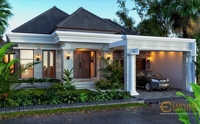 Desain Rumah Villa Bali 1 Lantai Ibu Dhini di  Medan