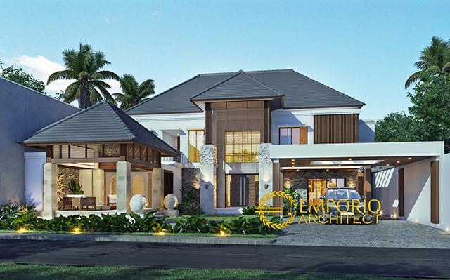 Desain Rumah Villa Bali 2 Lantai Ibu Emi di  Medan, Sumatera Utara