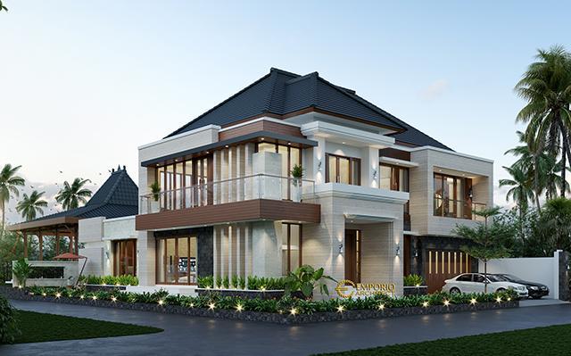 Desain Rumah Hook Modern 2 Lantai Bapak Yudi Rumawan di  Ngawi, Jawa Timur