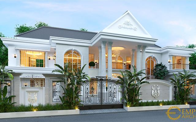 Mr. Joni Classic House 2 Floors Design - Padang
