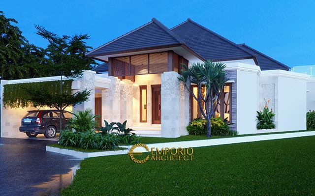 Desain Rumah Villa Bali 1 Lantai Bapak Taufik Hidayat di  Padang, Sumatera Barat
