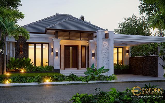 Mr. Rusli Villa Bali House 1 Floor Design - Padang, Sumatera Barat