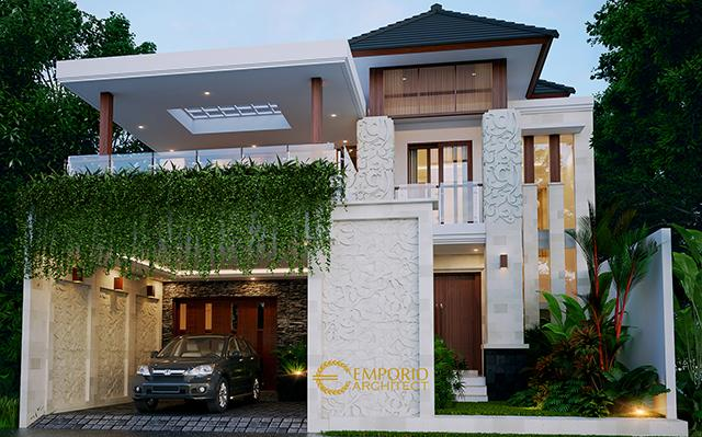 Mr. Hendri Villa Bali House 2 Floors Design - Padang, Sumatra Barat