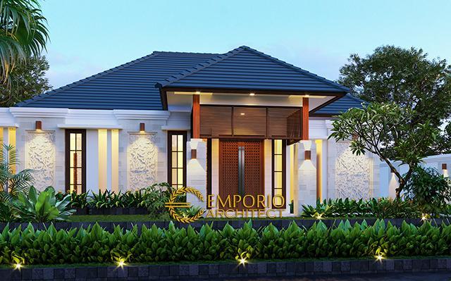 Desain Rumah Villa Bali 1 Lantai Bapak Anwar II di  Palangka Raya, Kalimantan Tengah