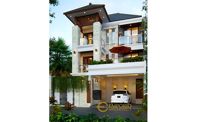 Mr. Jhone Villa Bali House 3 Floors Design - Palembang