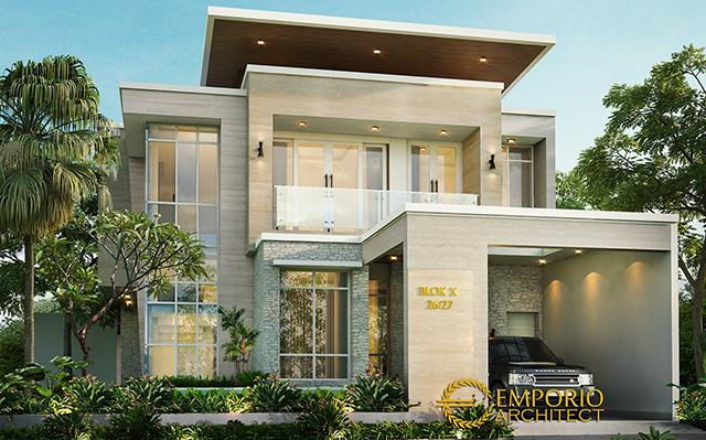 Mr. Okov Modern House 2 Floors Design - Palembang