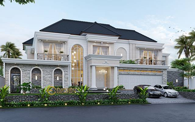 Mrs. Endah Classic House 2 Floors Design - Palembang