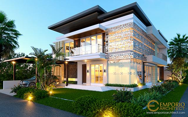 Mrs. Indi Modern House 2 Floors Design - Palembang