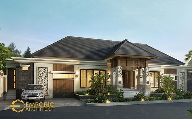 Mrs. Shelly Villa Bali House 1 Floor Design - Palu, Sulawesi Tengah