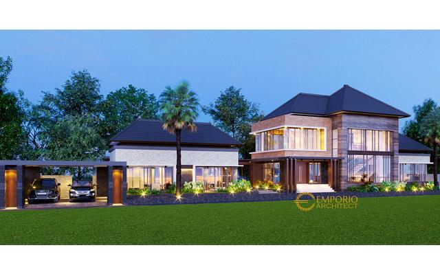 Desain Rumah Villa Bali 2 Lantai Bapak Guntur di  Pandeglang, Banten