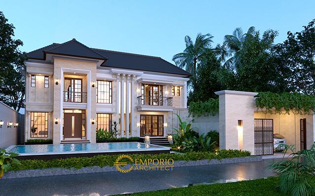 Desain Rumah Classic 2 Lantai Ibu Mauli di  Pantai Brawa, Badung, Bali