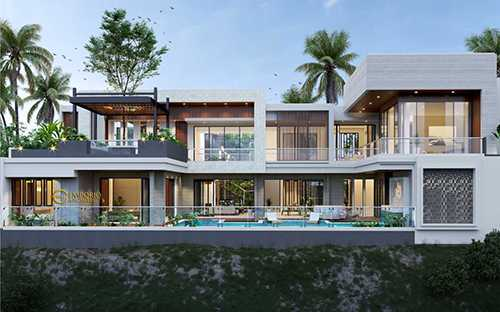 Rumah Minimalis 2 Lantai Luas 100 M  jasa arsitek desain villa