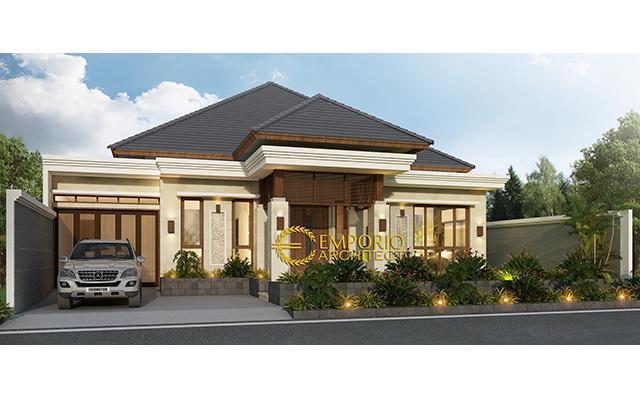 Desain Rumah Villa Bali 1 Lantai Bapak Indra di  Pekanbaru, Riau
