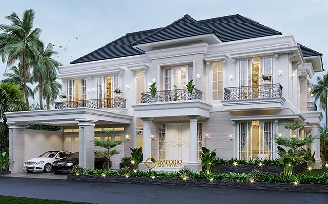 Mr. Suza Classic House 2 Floors Design - Pekanbaru, Riau