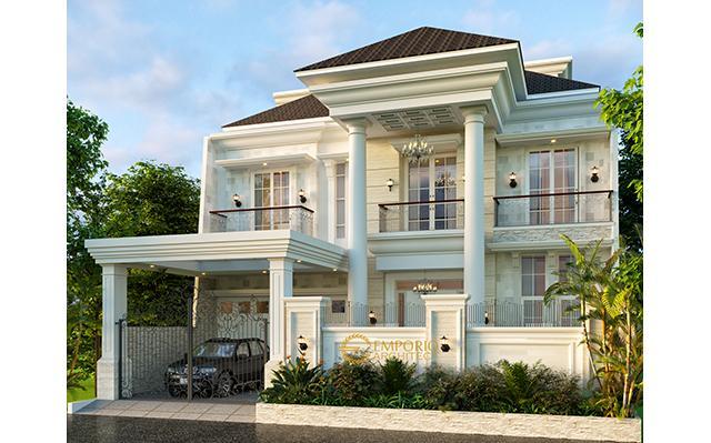 Desain Rumah Classic 3 Lantai Bapak Sinaga di  Pekanbaru, Riau