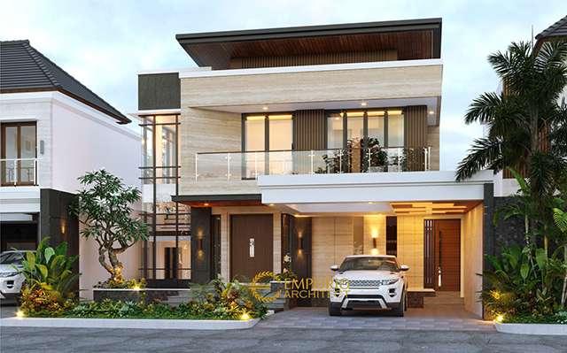 Desain Rumah Modern 2 Lantai Ibu Cynthia Angraini Tampubolon di  Pekanbaru, Riau