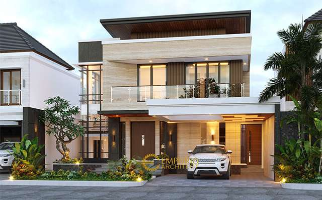 Mrs. Cynthia Angraini Tampubolon Modern House 2 Floors Design - Pekanbaru, Riau