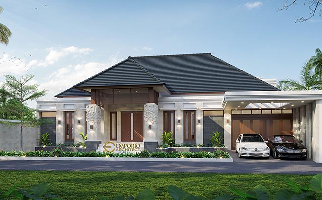 Desain Rumah Villa Bali 1.5 Lantai Bapak Erik di  Pekanbaru, Riau