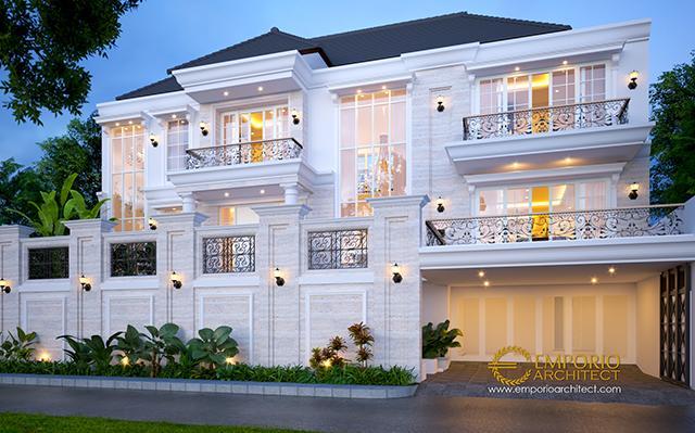 Desain Rumah Classic 2.5 Lantai Bapak Bobby di  Pontianak
