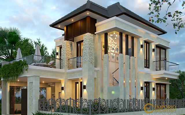 Desain Rumah Villa Bali 2 Lantai Bapak Setiawan di  Puncak, Bogor