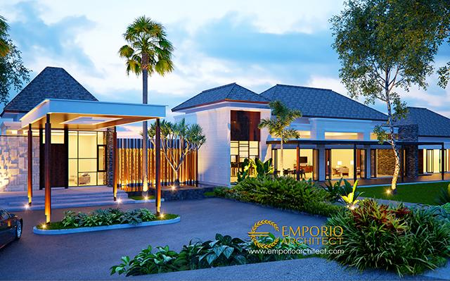 Desain Villa III Style Villa Bali 1 Lantai Bapak Jafar di  Purwakarta