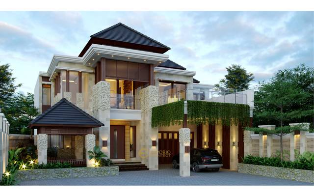 Desain Rumah Villa Bali 2 Lantai Bapak Deden di  Purwakarta, Jawa Barat