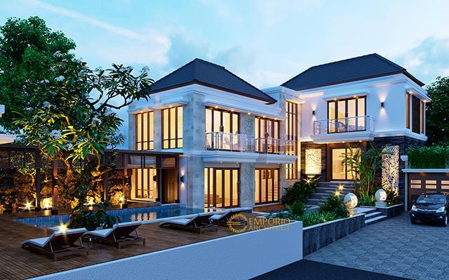 Desain Villa Bali 2 Lantai Bapak Marwan di  Samarinda, Kalimantan Timur