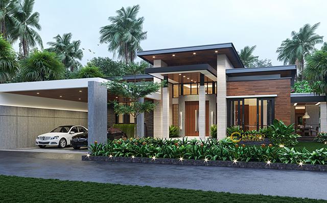 Desain Rumah Modern 1 Lantai Ibu Fanny di  Sambas, Kalimantan Barat