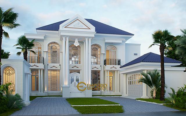 Desain Rumah Classic 2 Lantai Ibu Yanti di  Semarang, Jawa Tengah