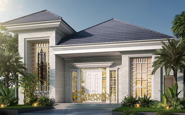 Desain Rumah Classic 2 Lantai Bapak Baron di  Sentul, Bogor